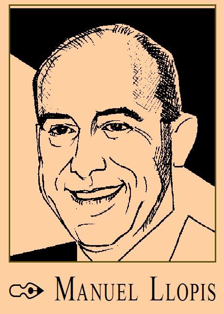 caricatura de Manuel Llopis por Gold & Time