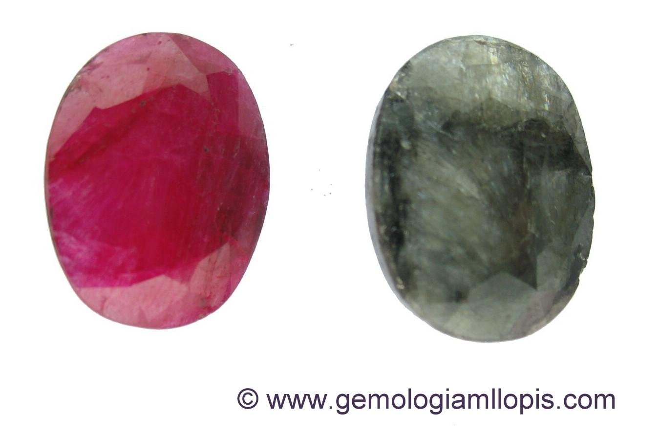 sillimanita antes y despues de aplicarle calor