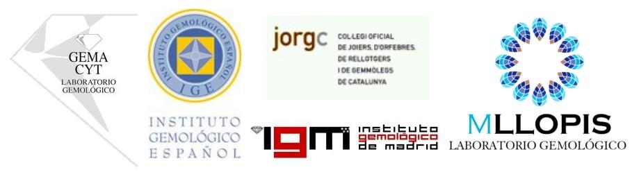 Logotipos de Laboratorios Gemológicos Españoles