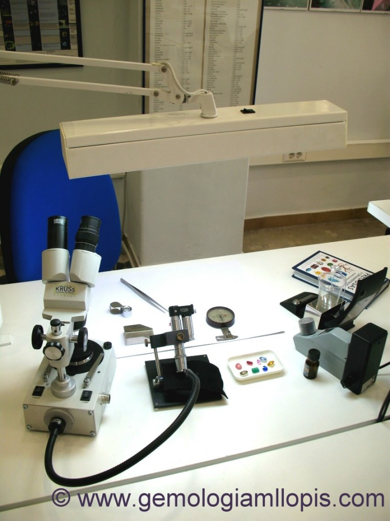 Entorno ideal para un estudiante de gemología