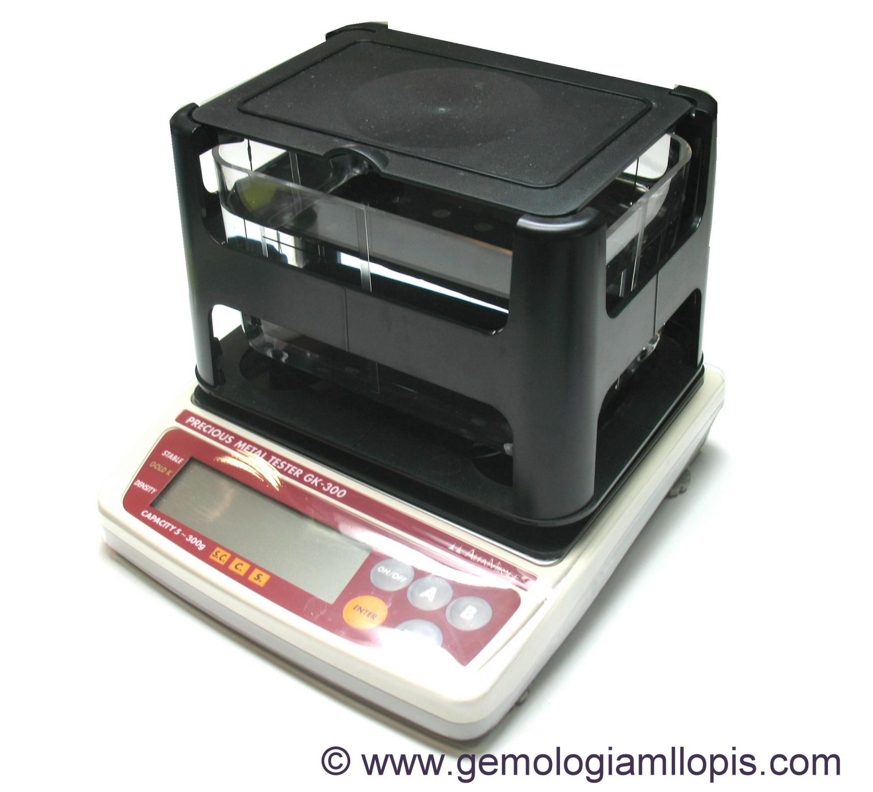 Balanza densimetro GK-300, calcula por densidad la ley del oro plata o platino.