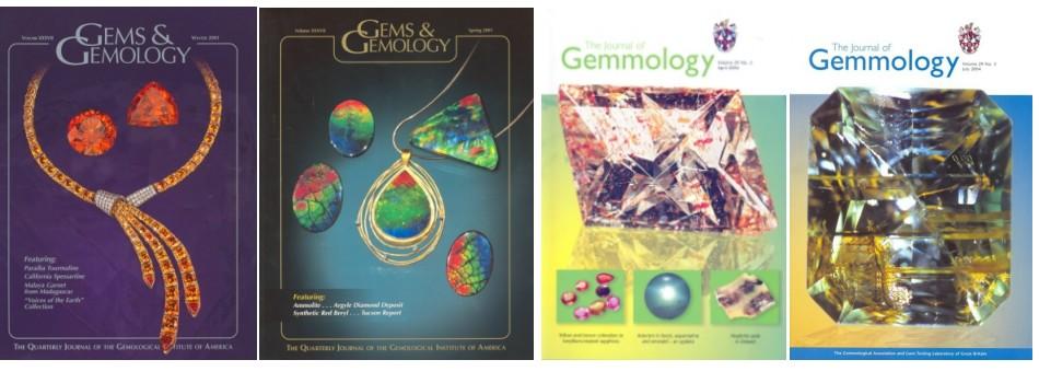Publicaciones de gemologia de laboratorios gemológicos