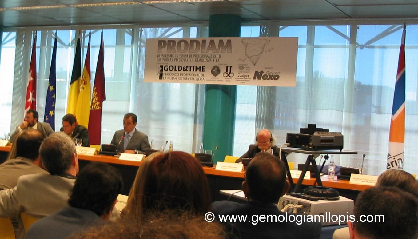 Apertura de PRODIAM 2005  encuentro de profesionales del diamante