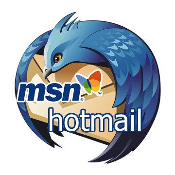 Servidores de correo electrónico hotmail y de mensajeria Mesenger