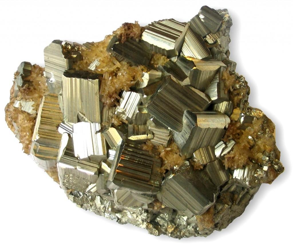 Agregados de cristales de pirita