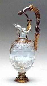 Jarra con sirena, Tesoro del Delfín. Museo del Prado. Cuarzo cristal de roca