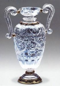 Jarra decoración de rosas, Tesoro del Delfín. Museo del Prado. Cuarzo cristal de roca