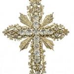 Cruz pectoral de diamantes de principios de SXX