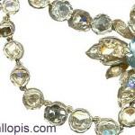 Collar isabelino de diseño floral con aguamarinas y diamantes, restaurado.