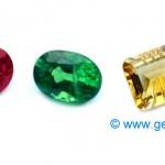 La Gemología se aprende comparando piedras del mismo color