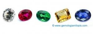 Los colores mas importantes para clasificar las piedras por grupos de color.
