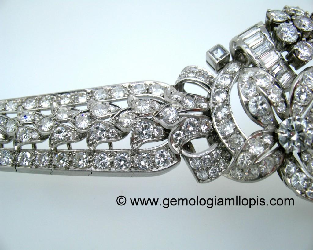 Pulsera de diamantes con excelente acabado de articulaciones y engastados
