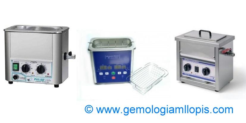 Cubetas de ultrasonidos con termostato y temporizador