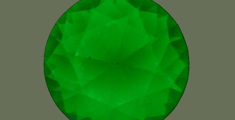 Fluorescencia en una espinela sintética