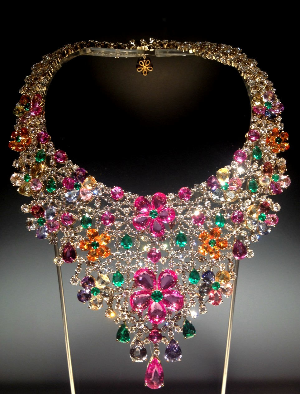 collar bulgari floral