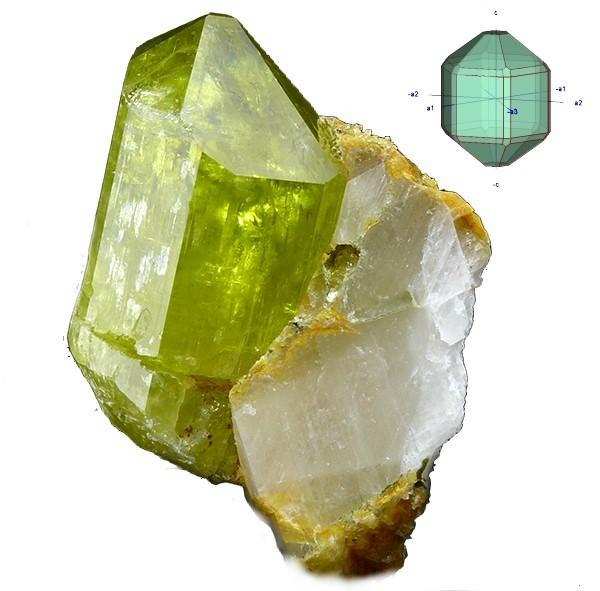 apatito prisma hexagonal y bipiramide bis