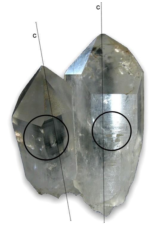 cristal de roca estrias