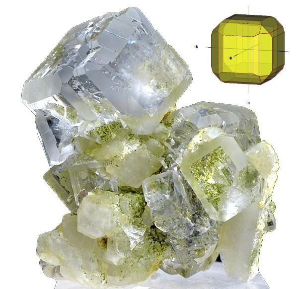 fluorita cubo y rombododecaedro bis