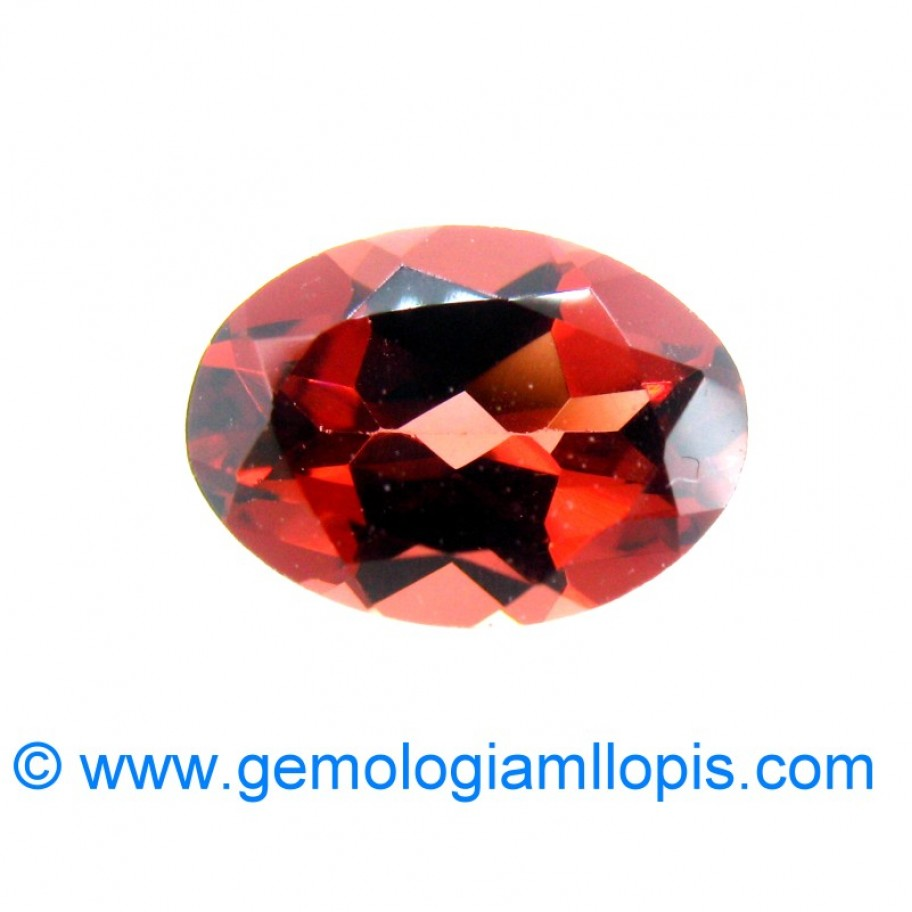 Hessonite garnet grossular