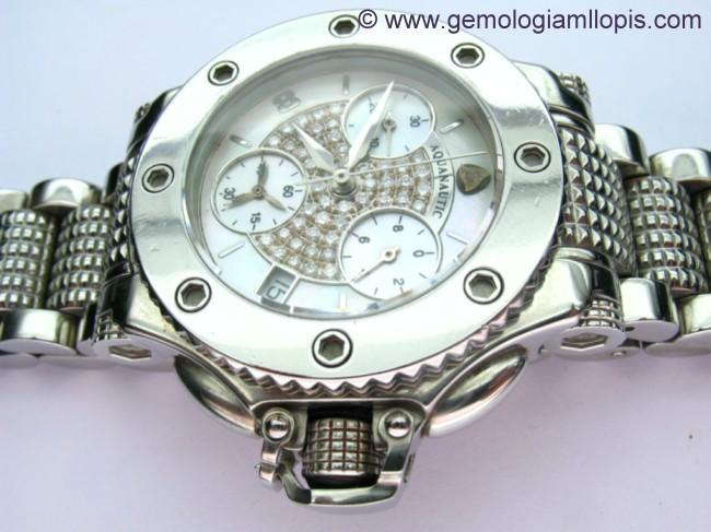 Esfera con diamantes de reloj Aquanautic restaurada