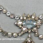 Elegante collar de finales del XIX de aguamarinas y diamantes