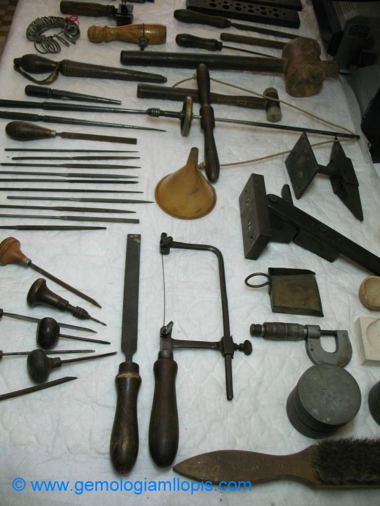 Las herramientas de un artesano joyero, mi padre, Manuel Llopis Chisvert