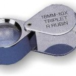 Lupa 10x acromática aplanática Rubin