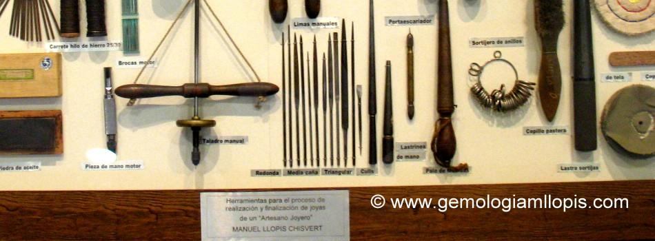Herramientas de artesano joyero