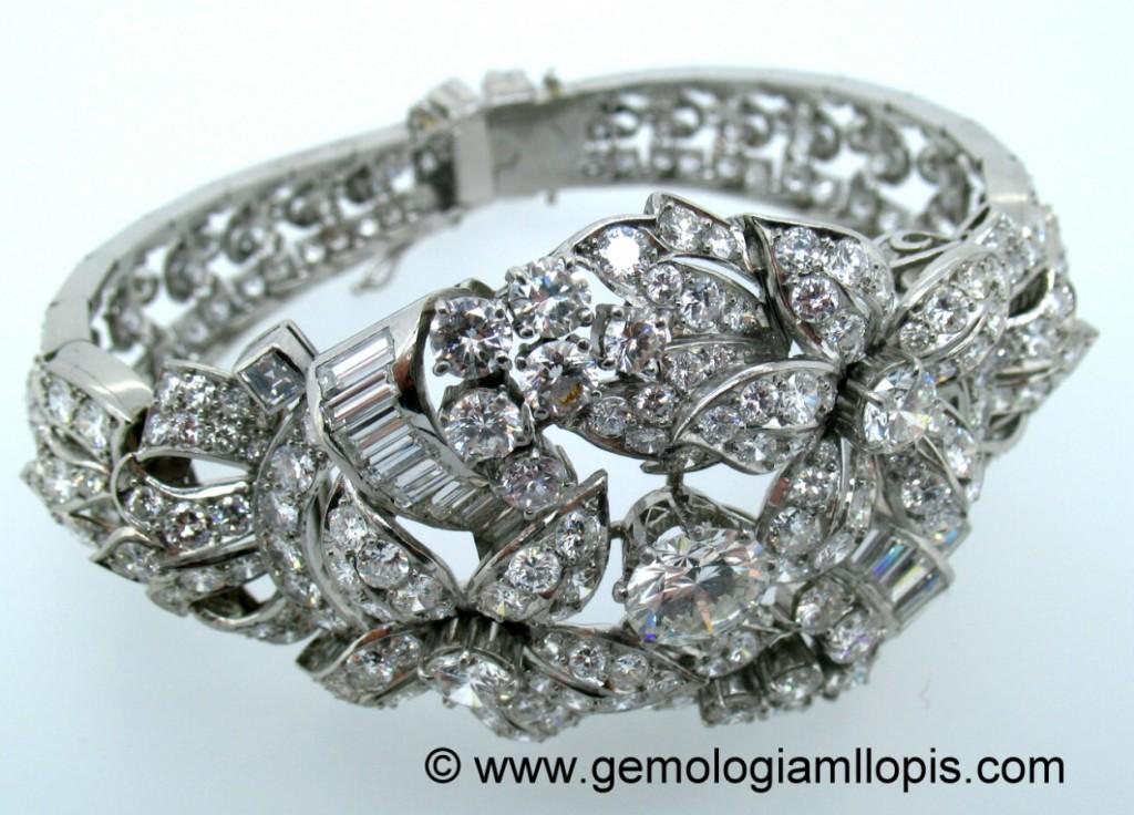 Pulsera de pedida de diamantes realizada en platino de 950 milésimas