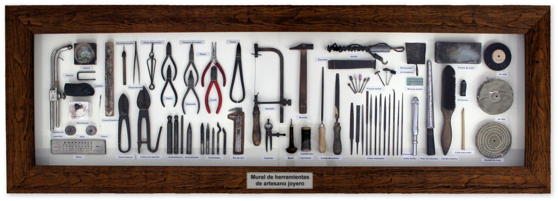 Cuadro decorativo de herramientas de artesano joyero