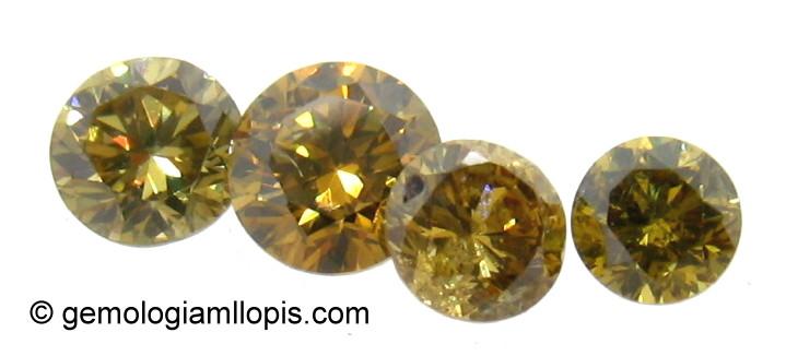 Diamantes de color amarillo intenso