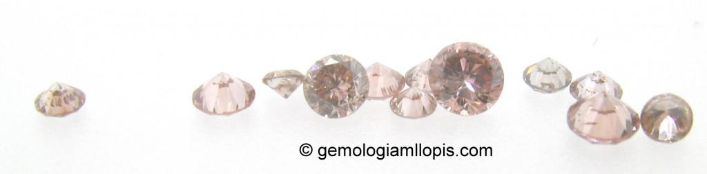 Diamantes de color rosa