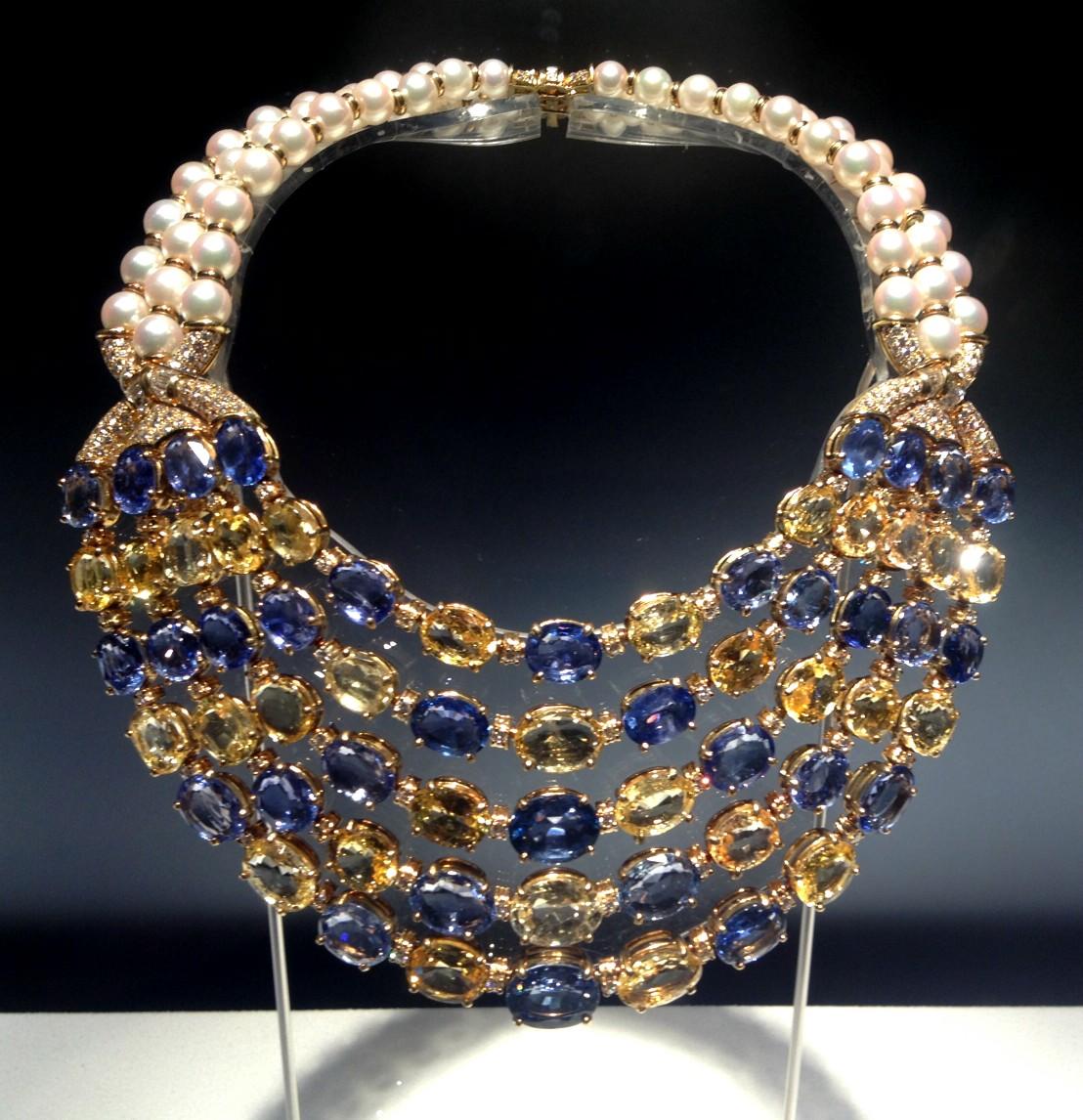 collar bulgari perlas y mas color