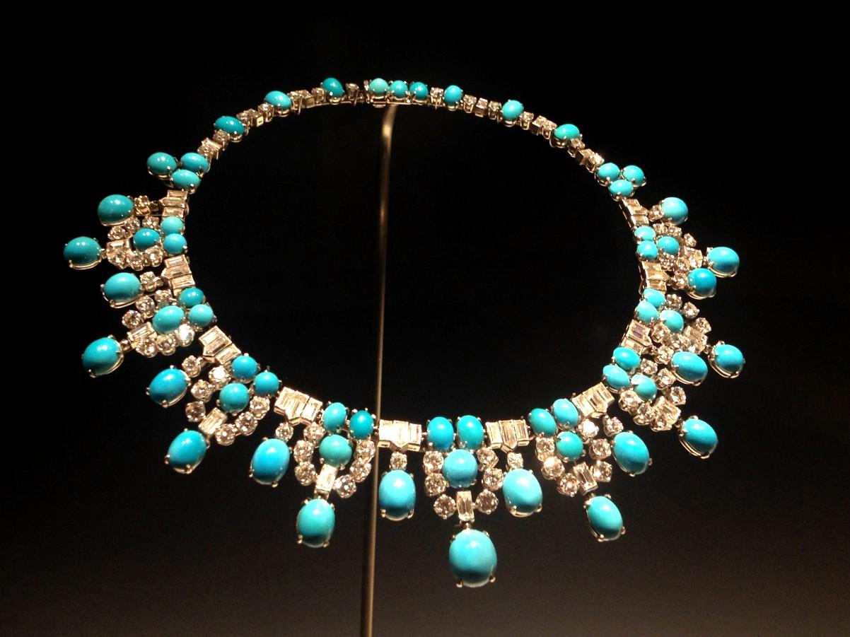 collar bulgari turquesas y diamantes
