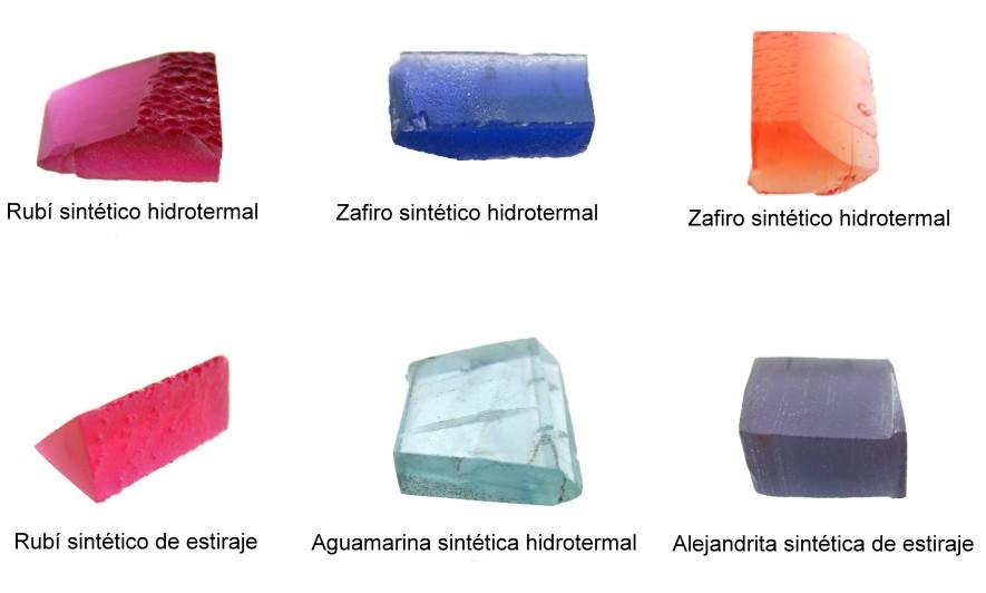 Estos son los cristales en bruto a partir de los que se tallaron las gemas que vamos a ver.