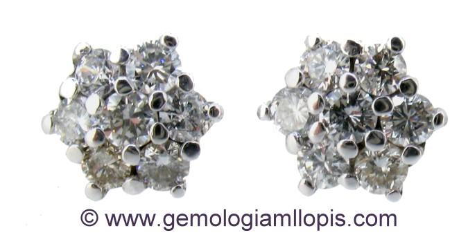 Roseton realizado con diamantes desengastados