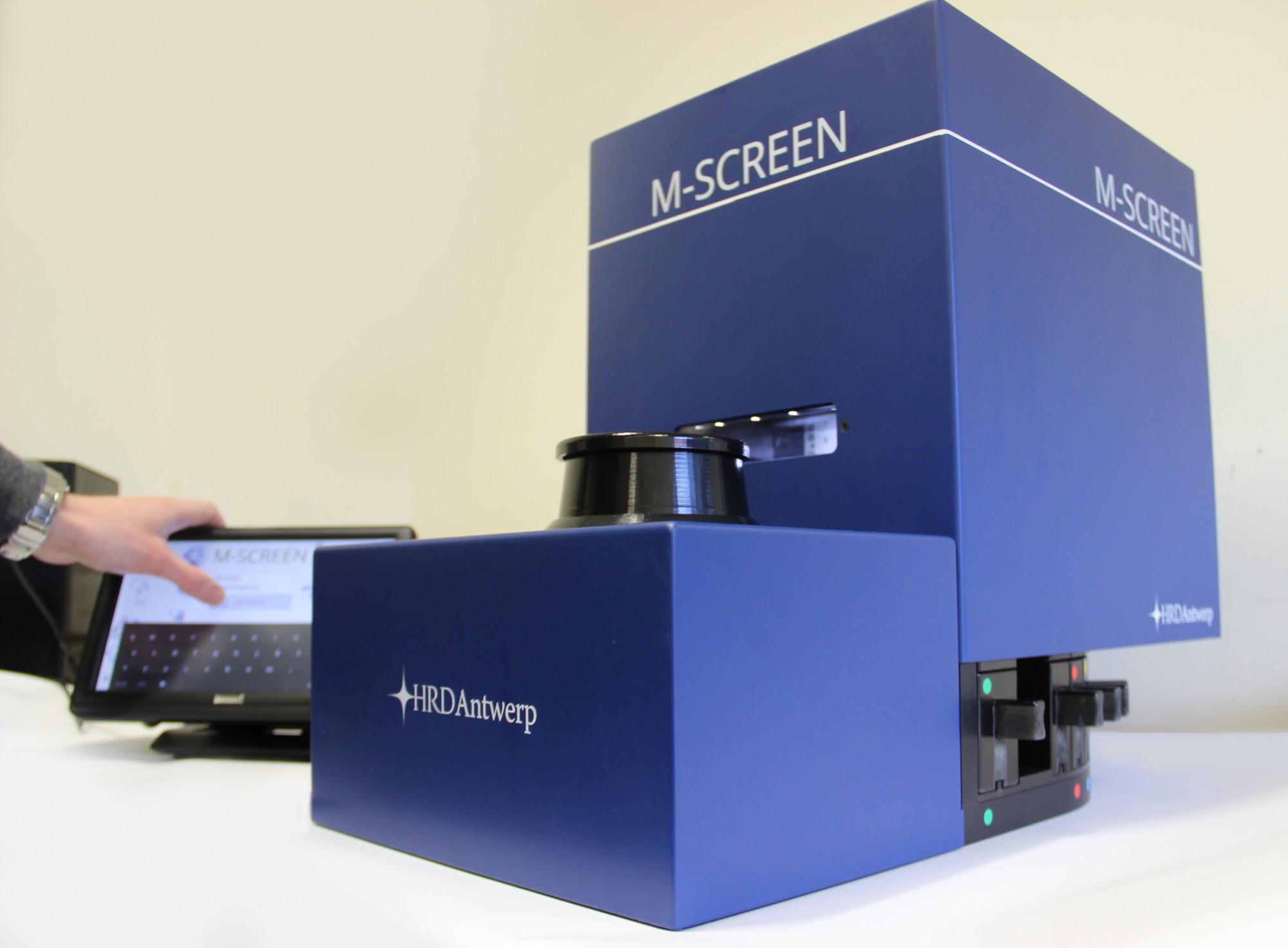 M-Screen de HRD para clasificar grandes lotes de ediamantes naturales y sintéticos