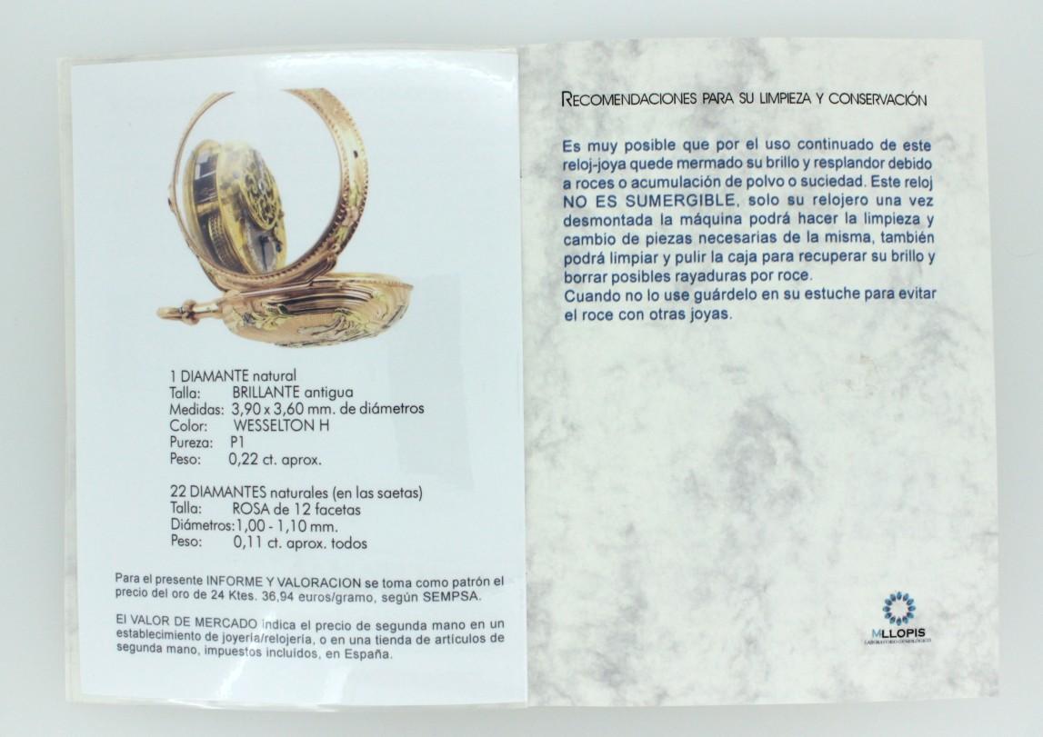 info y valor reloj bolsillo antiguo interior 3