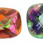 Cuarzos de la variedad  cristal de roca tratados con impregnaciones