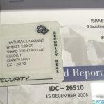 Vendida mediante Wallapop una Moisanita sintética por Diamante con certificado falso